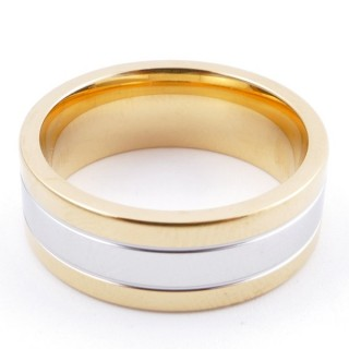 38897 PACK OF 10 STAINLESS STEEL RINGS IN ASSORTED SIZES. THICKNESS: 8 MM