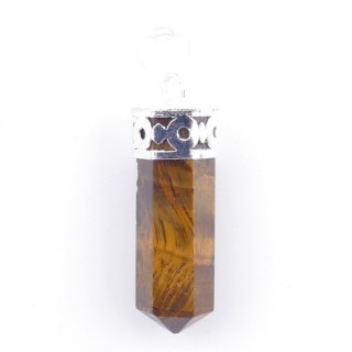 3375609 METAL PENDANT WITH NATURAL STONE 35 X 8 MM POINTER IN TIGER'S EYE
