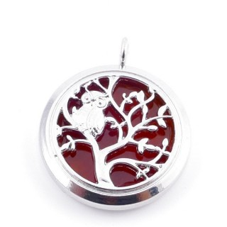 3831207 METAL FASHION JEWELERY 30 MM LOCKET WITH CARNELIAN STONE