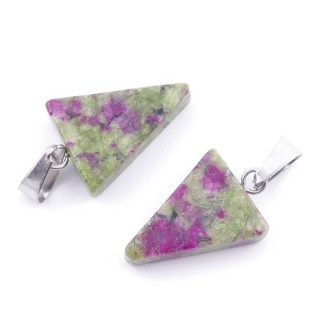 3864831 PACK OF 2 PCS 20 X 14 MM RUBY IN FUCHSITA STONE PENDANTS