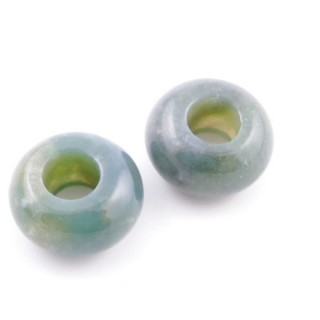 3865035 PACK OF 2 ROUND STONE 14 X 7 MM BEADS IN INDIAN AGATE
