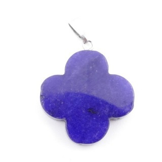 3864613 FLOWER SHAPED 23 MM STONE PENDANT IN LAPIS LAZULI