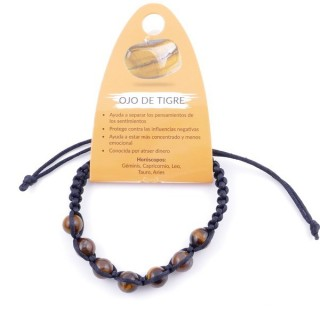 3836309 SLIPKNOT BRACELET WITH 8 MM TIGER'S EYE STONE BEADS