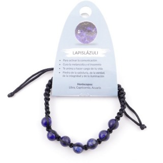 3836313 SLIPKNOT BRACELET WITH 8 MM LAPIS LAZULI STONE BEADS