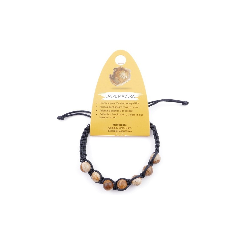 3836336 SLIPKNOT BRACELET WITH 8 MM WOOD JASPER STONE BEADS