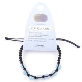 3836354 SLIPKNOT BRACELET WITH 8 MM BLUE QUARTZ STONE BEADS