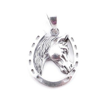 50223 STERLING SILVER HORSESHOE SHAPED 25 X 21 MM PENDANT