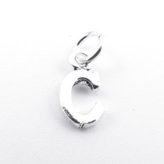 55293-03 LETTER SHAPED STERLING SILVER 1 CM CHARM
