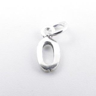55293-15 LETTER SHAPED STERLING SILVER 1 CM CHARM