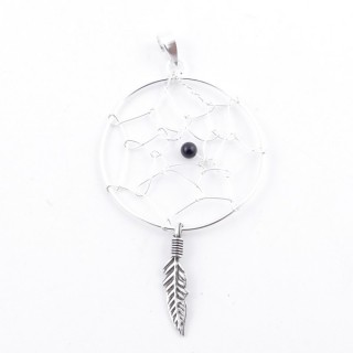 51232 STERLING SILVER 57 X 31 MM DREAMCATCHER PENDANT