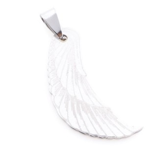 36162-56 WING SHAPED 37 X 17 MM STAINLESS STEEL PENDANT
