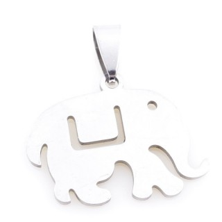 36162-62 ELEPHANT SHAPED 22 X 26 MM STAINLESS STEEL PENDANT