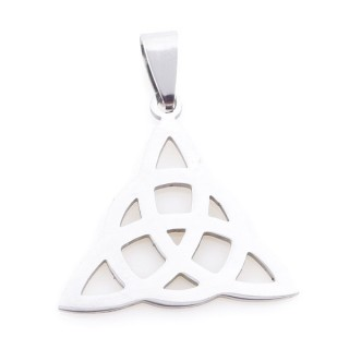 36162-65 STAINLESS STEEL 27 X 27 MM TRIQUETRA SHAPED PENDANT