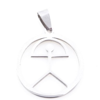 36162-75 INDALO SYMBOL 27 MM STAINLESS STEEL PENDANT