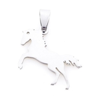 36162-76 HORSE SHAPED 21 X 28 MM STAINLESS STEEL PENDANT