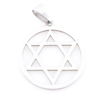 36162-77 STAR OF DAVID STAINLESS STEEL 27 MM PENDANT