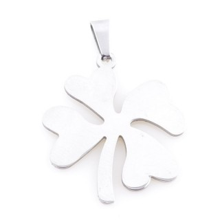 36162-79 STAINLESS STEEL FOUR LEAF CLOVER 31 X 27 MM PENDANT