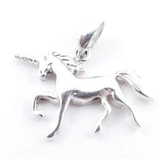 52160 UNICORN SHAPED STERLING SILVER 16 X 19 MM PENDANT