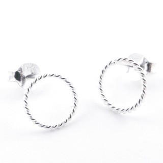 52152-04 STERLING SILVER DESIGN EARRINGS. SIZE: 8 MM