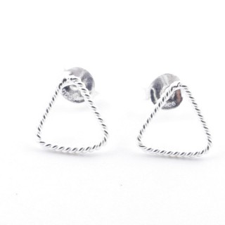 52152-03 STERLING SILVER DESIGN EARRINGS. SIZE: 8 X 8 MM