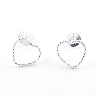52152-02 STERLING SILVER DESIGN EARRINGS. SIZE: 8 X 8 MM