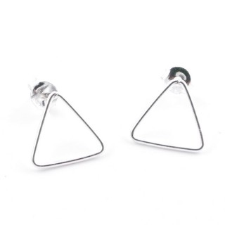 52152-01 STERLING SILVER DESIGN EARRINGS. SIZE: 10 X 11 MM