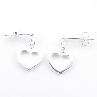 5214500 STERLING SILVER DESIGN EARRINGS. SIZE: 16 X 10 MM