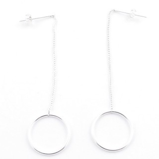 5215100 STERLING SILVER DESIGN EARRINGS. SIZE: 68 X 18 MM
