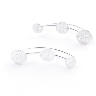 5214310 STERLING SILVER 925 CLIMBER EARRINGS 23 X 6 MM