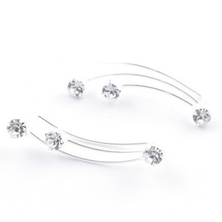 5214204 STERLING SILVER 925 CLIMBER DESIGN EARRINGS 24 X 5 MM