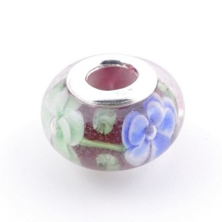 51233-01 STERLING SILVER & RESIN 9 X 14 MM CHARM. HOLE: 4.5 MM
