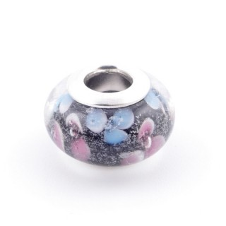 51233-02 STERLING SILVER & RESIN 9 X 14 MM CHARM. HOLE: 4.5 MM