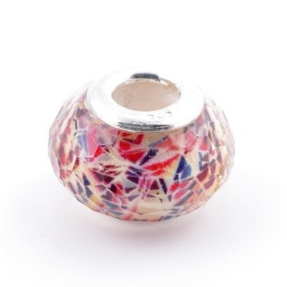 51233-05 STERLING SILVER & RESIN 9 X 14 MM CHARM. HOLE: 4.5 MM