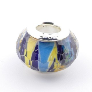 51233-10 STERLING SILVER & RESIN 9 X 14 MM CHARM. HOLE: 4.5 MM