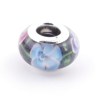 51233-13 STERLING SILVER & RESIN 9 X 14 MM CHARM. HOLE: 4.5 MM