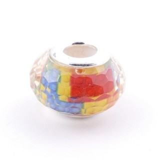 51233-18 STERLING SILVER & RESIN 9 X 14 MM CHARM. HOLE: 4.5 MM
