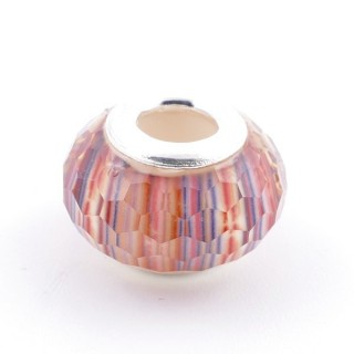 51233-21 STERLING SILVER & RESIN 9 X 14 MM CHARM. HOLE: 4.5 MM