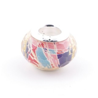 51233-23 STERLING SILVER & RESIN 9 X 14 MM CHARM. HOLE: 4.5 MM