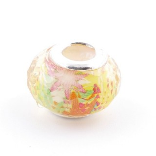 51233-24 STERLING SILVER & RESIN 9 X 14 MM CHARM. HOLE: 4.5 MM