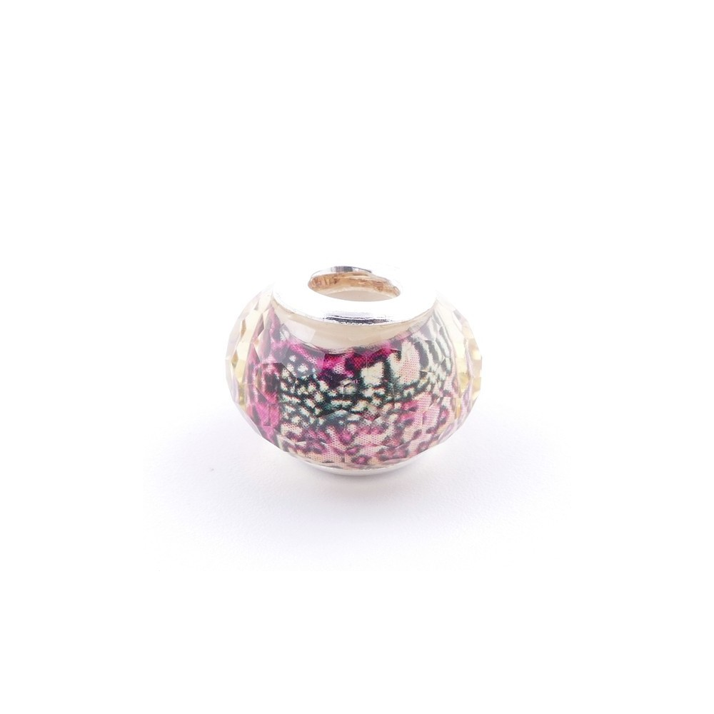 51233-25 STERLING SILVER & RESIN 9 X 14 MM CHARM. HOLE: 4.5 MM