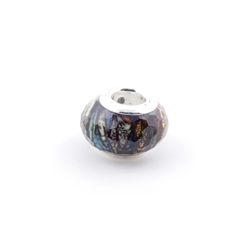 51233-27 STERLING SILVER & RESIN 9 X 14 MM CHARM. HOLE: 4.5 MM