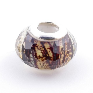 51233-28 STERLING SILVER & RESIN 9 X 14 MM CHARM. HOLE: 4.5 MM