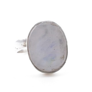 58215-05 ADJUSTABLE SILVER RING WITH 16 X 12 MM MOONSTONE