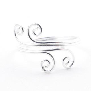 52162-17 STERLING SILVER 14 MM WIDE RING SIZE 17