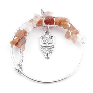 3865107 TREE OF LIFE WIRE PENDANT 50 WITH STONES IN CARNELIAN