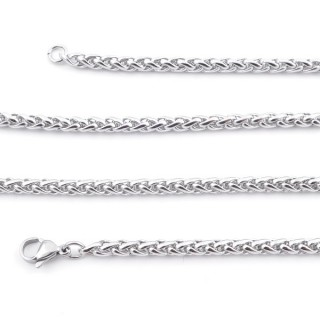 36035 STAINLESS STEEL 4 MM X 60 CM LONG CHAIN