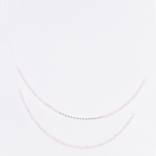 51237 SHORT NECKLACE MADE WITH 2.5 MM FACETED ROSE QUARTZ STONE AND SILVER 925