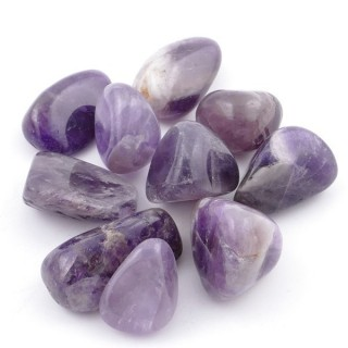38628-05 PACK OF 10 PCS 10-20 MM TUMBLESTONES IN AMETHYST