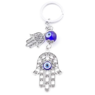 38577 METAL FASHION KEYRING WITH TURKISH EYE