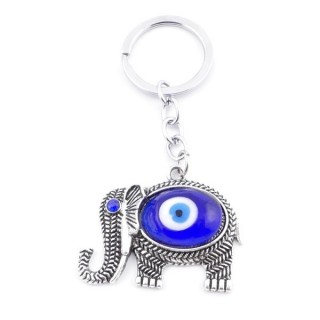 38578 METAL FASHION KEYRING WITH TURKISH EYE
